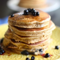 Vegan Coconut-Blueberry Pancakes