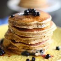 Vegan Coconut-Blueberry Pancakes